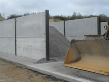 concrete panels/ pre stressed retaining walls